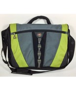 "SWISSGEAR Canvas 15"" Laptop Messenger Bag by Wenger Padded Swiss Army Gr... - $28.45"