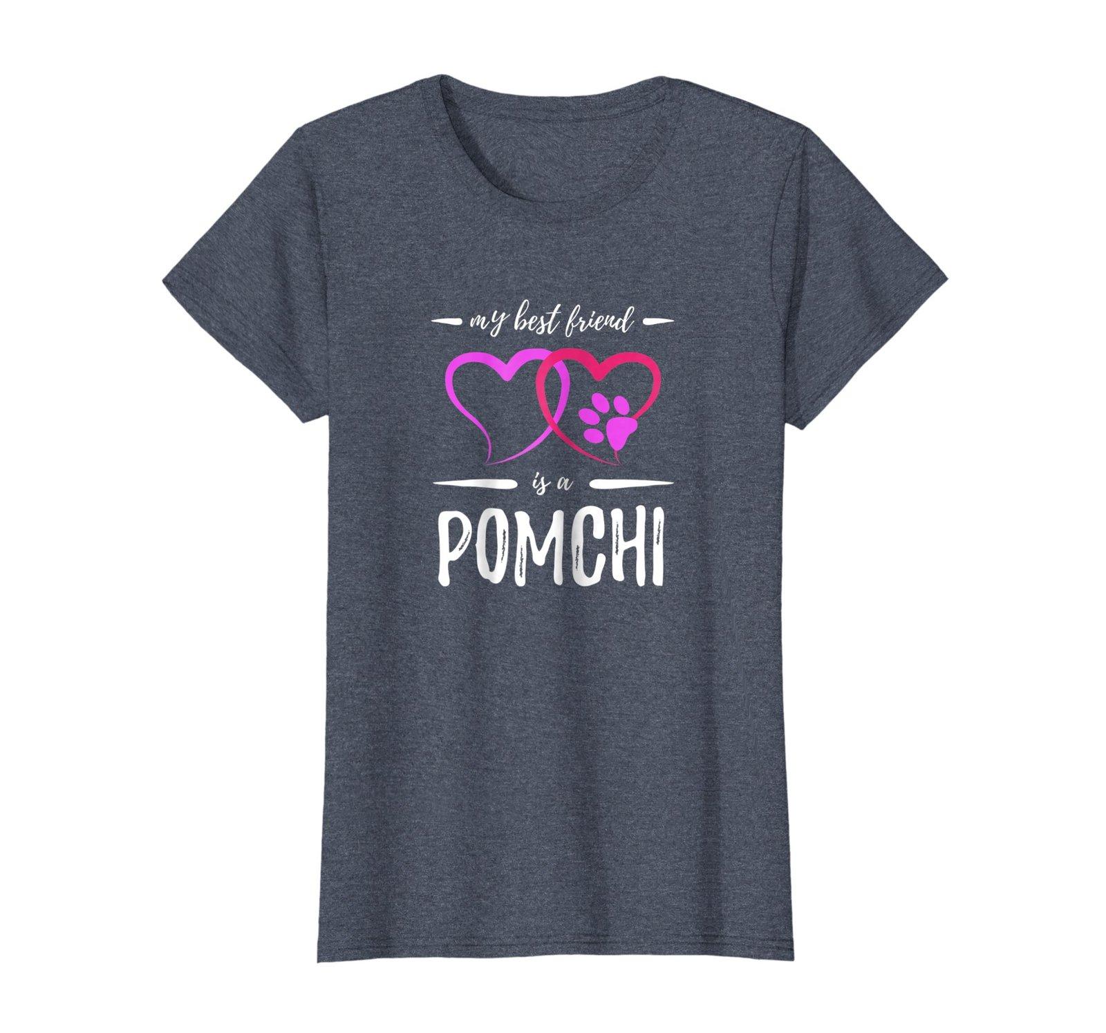 Best Friend Pomchi Dog Shirt Funny Dog Mom Gift Idea