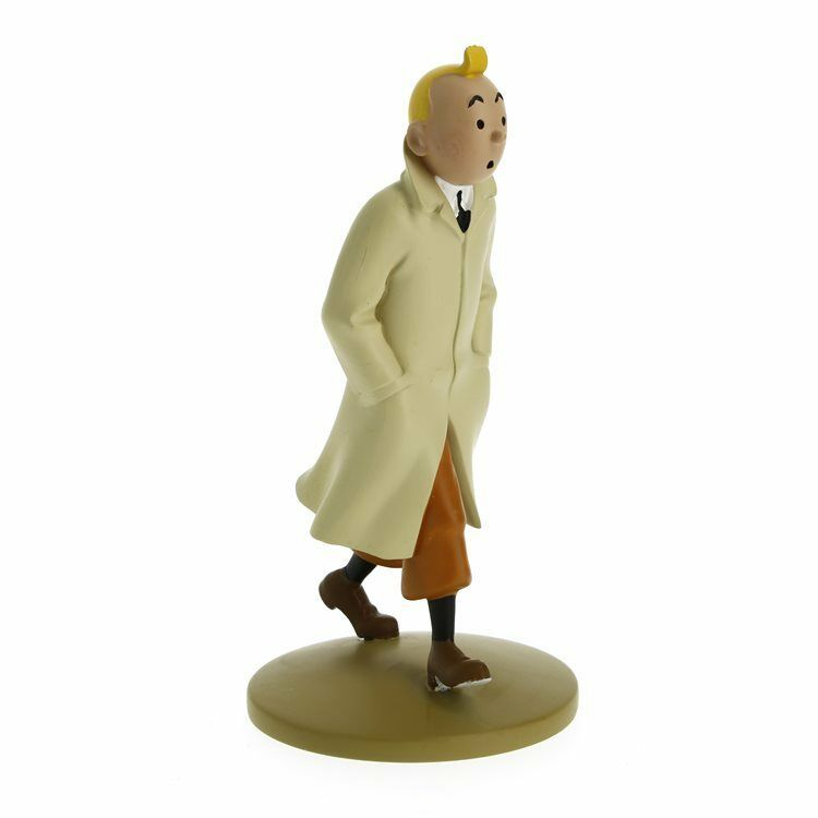 Tintin in trenchcoat polyresin figurine Official Tintin product