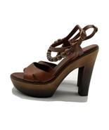 UGG Australia W Naima Sandles Heels Natural Brown Leather SIZE 9W - $29.70