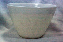 Hazel Atlas 1 1/2 Qt Milk Glass Mixing Bowl with Cattails Pattern - $13.16