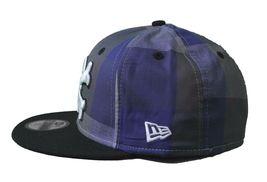 Dissizit Dx11 Bones Gingham Blue & Black New Era 59FIFTY Fitted Baseball Hat NWT image 5