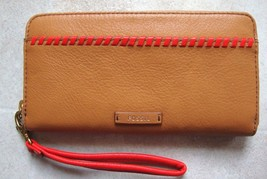 New Fossil Women's Julia Rfid Leather Wristlet Clutch Variety Colors - $69.99