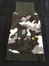 Dog Sweater Pet Clothes Apparel Size XXXL Knitted Green Camouflage Bronz... - $22.28