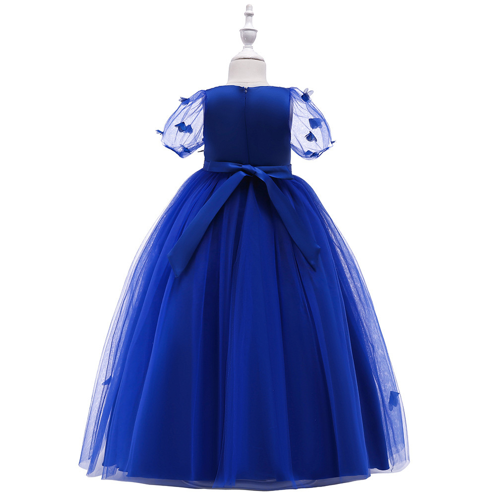 Sexy Blue  Tulle Lace Flower Girl Dress A Line Wedding Party Gowns A Line 2019 image 3