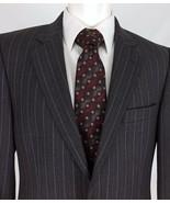 Arturo Calle European Collection Gray Pinstripe Sport Coat Mens 39L Blaz... - $29.53