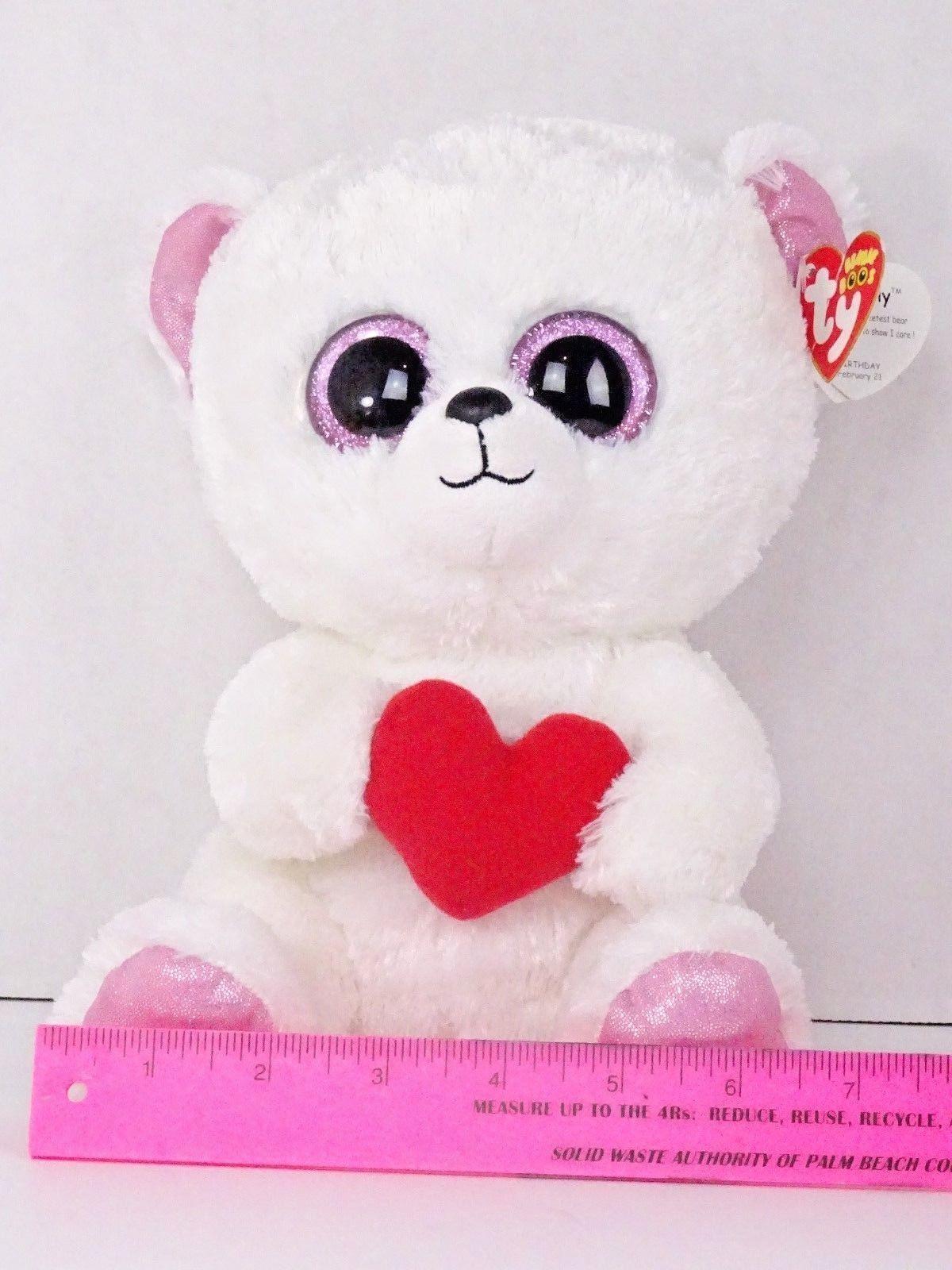 9583a7ed973 Ty Beanie Boo Sweetly The Bear With Heart 6