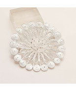 925 Sterling Silver Telkari Repeat Flower Brooch Women Handmade Jaliwork... - $28.09