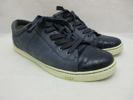UGG Australia Blue Leather Low Top Sneakers Women's Size 12 - $63.39 CAD