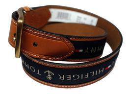 Tommy Hilfiger Men's Premium Ribbon Inlay Anchor Logo Leather Belt 11TL02X032 image 10