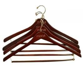 4 Macy's Wooden Suit Vintage Hangers - Fast Ship! - $18.80