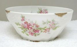 Vintage Limoges Ahrenfeldt Pink Rose Sprays Smaller Serving Bowl Fancy S... - $32.18