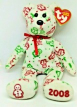 Ty Beanie Babies 2008 Gingerspice Hallmark Holiday Bear Gingerbread - $27.90