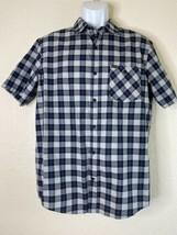 Hurley Men Size M Blue Check Shirt Short Sleeve Modern - $19.79