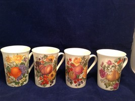 Crownford Fine Bone China Tea Mug Set of 4 Made in England