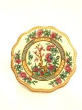 Vintage Signed Coalport India Tree Pattern Mini Porcelain Plate Brooch - $15.00