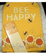 Primitives By Kathy Dish Towel Bee Happy + Magnet Note Pad - $13.99