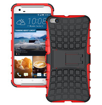 Duty Dual Layer Hybrid Shockproof Protective Cover Case for HTC One X9 - Red  - $4.99