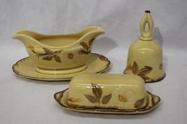 3pc Vintage Franciscan CAFE ROYAL Magnolia/Dogwood Flower Gravy, Butter ... - $49.99