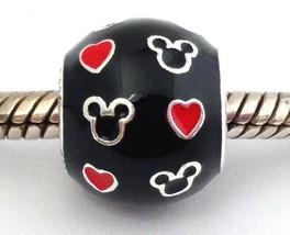 Authentic Pandora Disney Mickey And Hearts Charm, 925 Silver 791477ENMX,... - $47.49