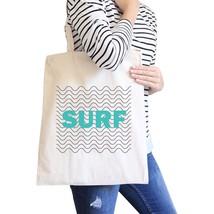 Surf Waves Natural Cute Design Canvas Shoulder Bag For Surf Lovers - $15.99