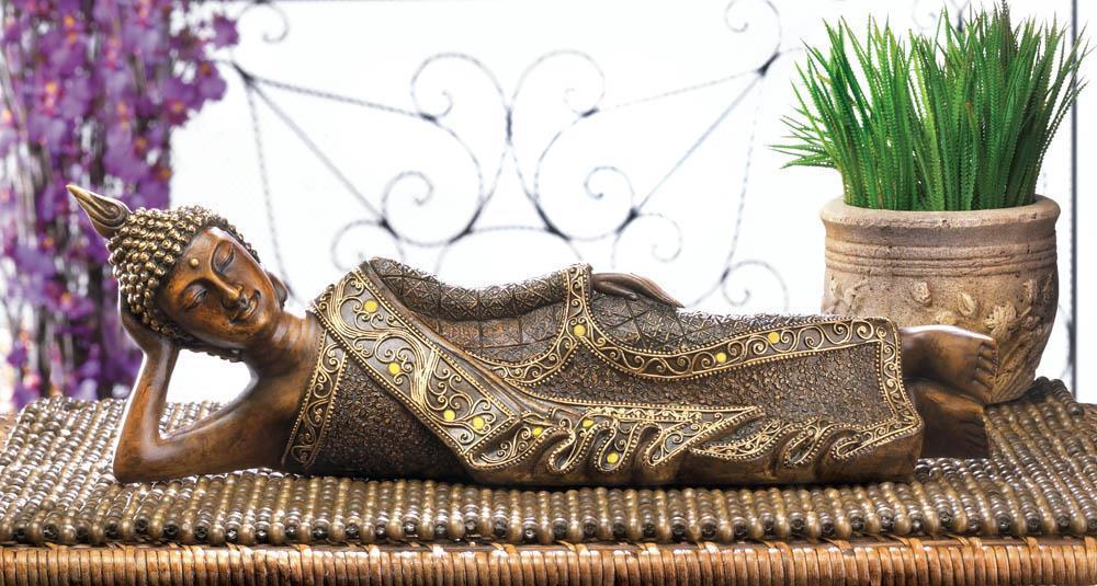 Peaceful Reclining Buddha Statue