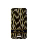 """Mary Square Ashley Two Piece iPhone 6 Tough Case Golden Herringbone """"Gir... - $9.99"""
