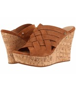 UGG Marta High Wedge Sandals Chestnut 12 - $119.99