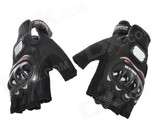PRO-BIKER MCS-04 Motorcycle Racing Half-Finger Protective Gloves - Black (Size M