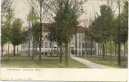 The High School Dowagiac Michigan  Vintage 1908 Post Card - $6.00