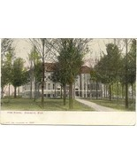 The High School Dowagiac Michigan  Vintage 1908 Post Card - $6.00