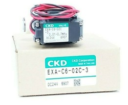 NIB CKD CORP. EXA-C6-02C-3 SOLENOID VALVE DC24V EXAC602C3
