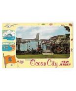 Greetings from Ocean City NJ View of Drawbridge Vintage Postcard - $7.99