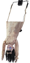 Halloween SWINGING HEAD FIRST LITTLE GIRL DOLL ANIMATED Prop Haunted Hou... - $139.89