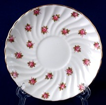 Aynsley Bone China Hathaway Saucer Swirled Edge Roses - $5.00