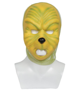 Grinch Latex Mask Green Full Head Helmet Props for Christmas Cosplay Hal... - $39.00