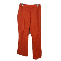 Tommy Jeans Snap Side Button Tearaway Track Nylon Pants Mens L Orange  - $27.71