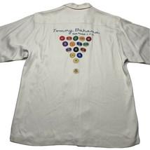 Tommy Bahama Mens L 100% Silk Pocket Hawaiian Shirt Side Pocket Pool Table Cue - $64.28