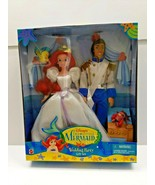 DISNEY'S THE LITTLE MERMAID WEDDING PARTY GIFT SET MATTEL 17592 ARIEL & ... - $54.40