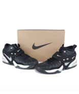 NOS Vtg 90s Nike Air Metal Force TB Basketball Sneakers Shoes Black Mens... - $138.55