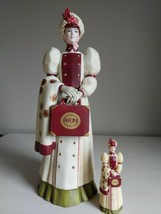 Avon Porcelain Figurine Set 2006 Mrs Albee Mini NO Box Ladies Victorian Award - $17.41