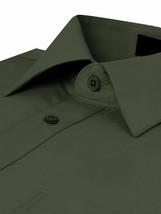Men's Classic Fit Long Sleeve Wrinkle Resistant Button Down Dress Shirt 3XL image 2