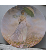 MONET Collector Plate WOMAN WITH A PARASOL Ltd Edition 1980 Numbered CUR... - $17.97