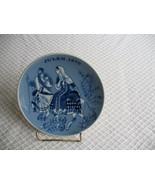 VINTAGE JULEN 1970 CHRISTMAS Collector BLUE PLATE PORSGRUNDS NORWAY Ltd ... - $19.97