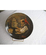 VINTAGE Collector Plate Norman Rockwell The Ship Builder Limited Edition... - $19.97