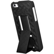 Amzer Snap On Case with Kickstand for iPhone 5C - Black - $4.94