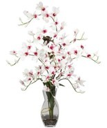 Dendrobium W Vase Silk Flower Arrangement - $111.82
