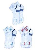 Fila Women's 3-Pack Quarter Socks, Shoe Sizes 4-10 - White w Navy Stripe... - $9.95