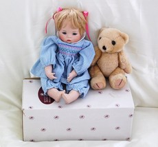 Ashton Drake Galleries Porcelain Doll Hannah with Teddy Bear Limited Edi... - $86.00