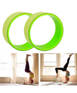 Yoga Prop Fitness Wheel Yoga Pose Poses Relieve Stress Train Enhance Agi... - $28.00
